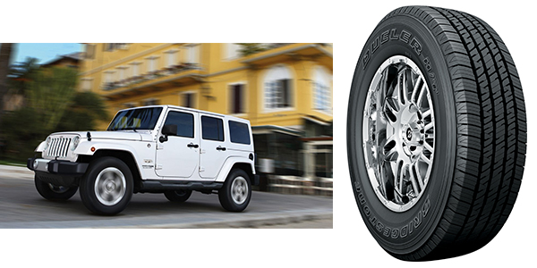 2018 Jeep Wrangler Bridgestone Tires