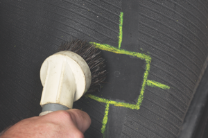11. use a vacuum to completely remove the buffing dust.