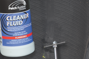 4. clean the area around the injury with cleaner fluid and a scraper.