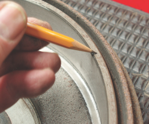The presence of a chamfer usually indicates if a brake drum can be resurfaced. At the minimum, I recommend a shallow cut to true the surface and remove the inner and outer wear ridges.