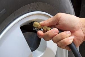 Drivers do not usually pay attention to their tire pressure. Offering nitrogen inflation to reduce pressure loss could help consumers.
