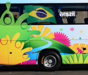 World Cup bus outfitted with Conti tires