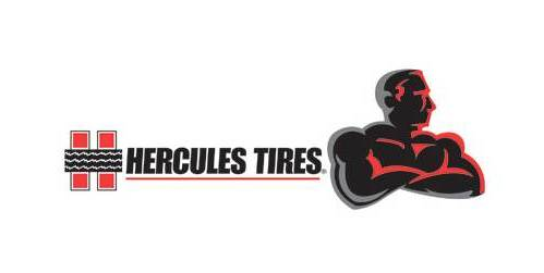 Hercules Tire Rubber logo feature size