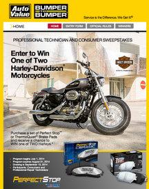 Aftermarket Auto Parts Alliance Custom Harley-Davidson Sweepstakes