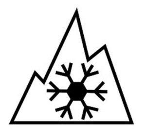 mountain snowlflake pictograph