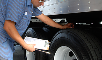 Tread-depth-check-heavy-duty-tire