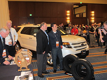 Hankook raffled off a 2015 Ford Explorer at the K&M dealer meeting, won by Discount Tire & Service in Illinois.