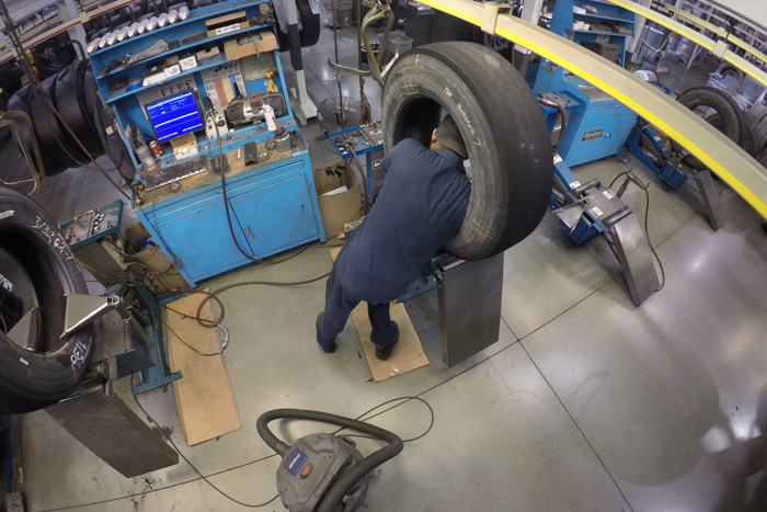 Indy Tire offers its commercial truck service customers extensive education-oriented retread plant tours.
