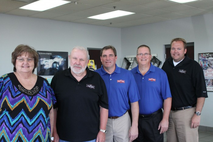 Dot McKenzie, Dennis Dickson, Chris Fox, Scott Monteith and Scott McKenzie are the owners of Indy Tire Centers.
