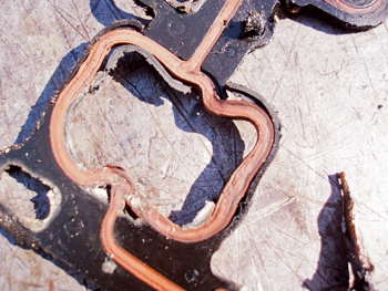 Although relatively rare in import vehicles, the intake manifold gaskets on some engines can fail at the water port.
