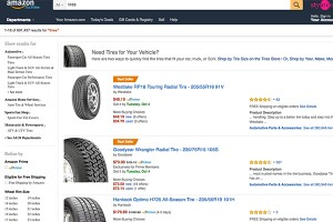 Industry insiders estimate that Amazon is hitting $90 million in tire sales annually