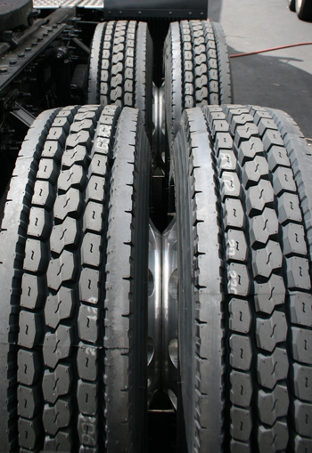 Deep tread depth and lugs help drive tires achieve maximum traction on difficult terrains. (Yokohama photo)