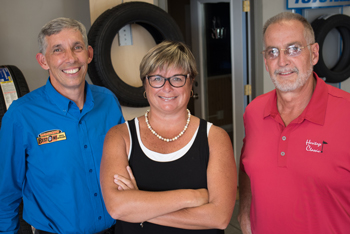 "Pictured (From Left to Right): Primary owners Patrick ""Bubba"" McMahon, Kim McMahon and Randy Geyer."