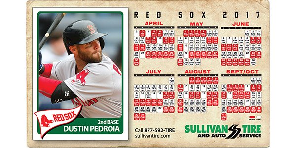 Sullivan Offering Red Sox Schedule Magnets Tire Review Magazine