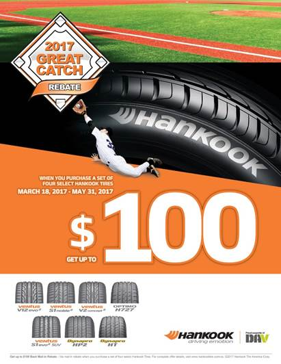 Mail In Rebate Offers >> Hankook Offers 2017 Great Catch Rebate Promo Tire Review