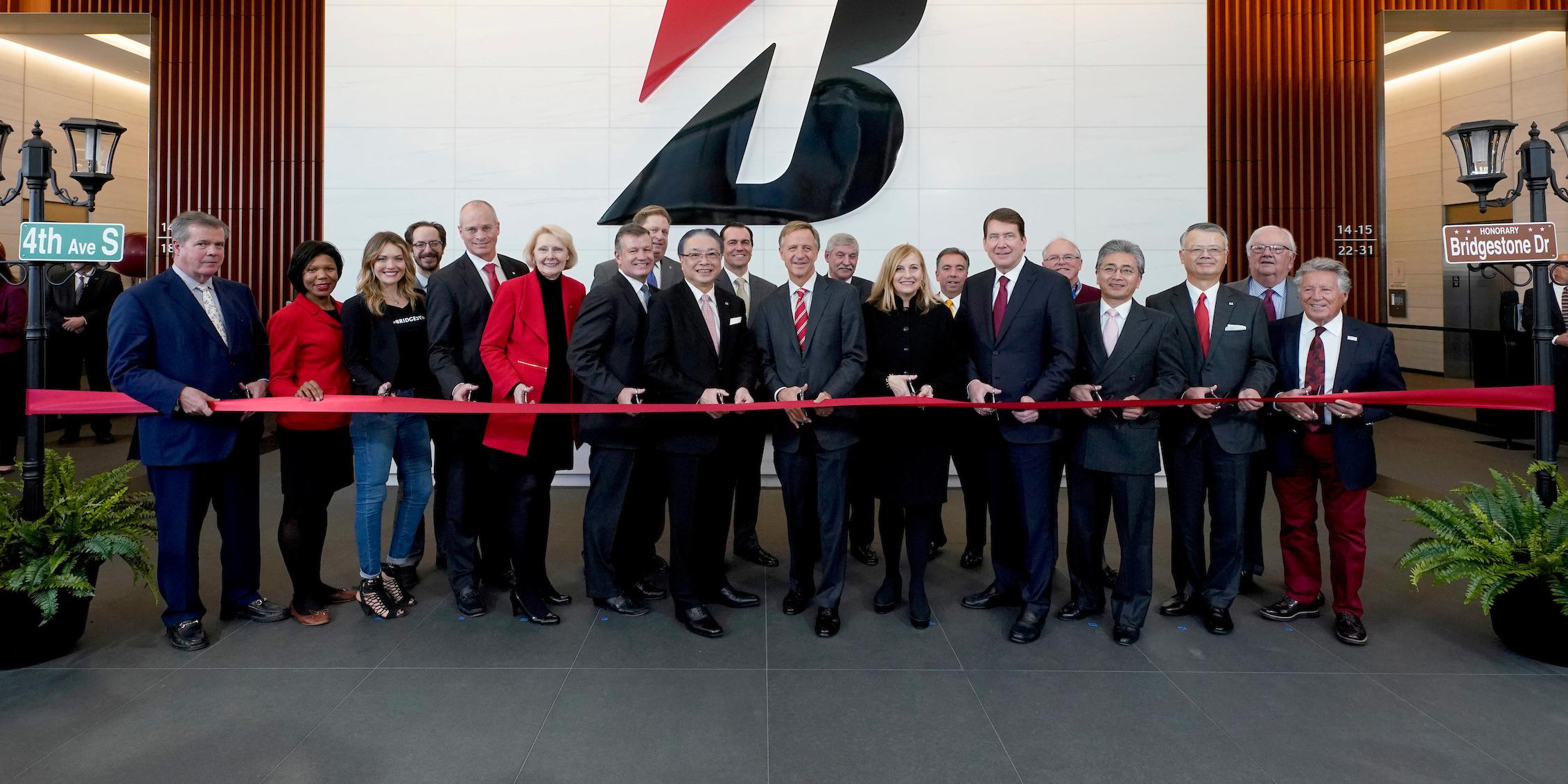 Bridgestone opens new headquarters in downtown Nashville.
