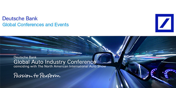 Deutsche Bank Auto Industry Conference
