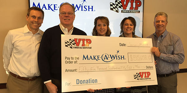 VIP Tires Make a Wish Donation