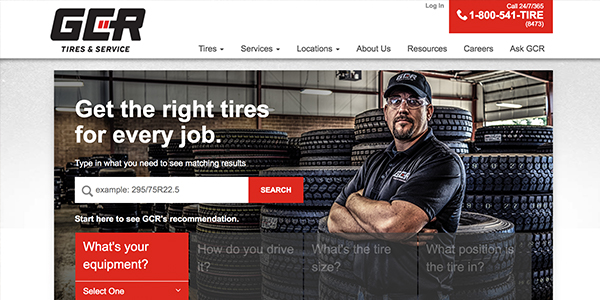 The GCR Commercial Truck Tire Finder