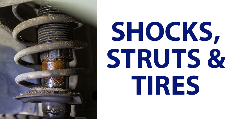 Shocks struts tires wear