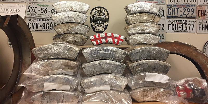 Austin drugs in truck tires