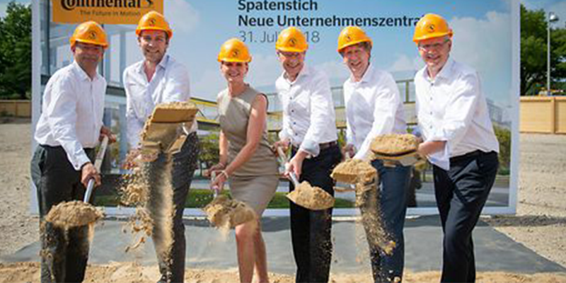 Continental ground breaking Hanover Germany headquarters