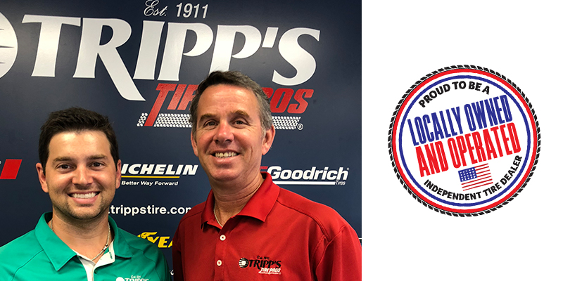 Tripp's Tire Pros Tony Tripp Proud to Be Independent Tire Dealer