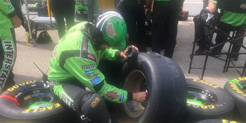 NASCAR tire tech at MIS Goodyear