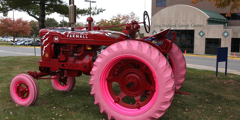 Titan International Ride for a Cure pink farm tires