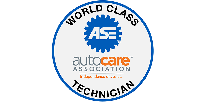 ASE World Class technician auto care association