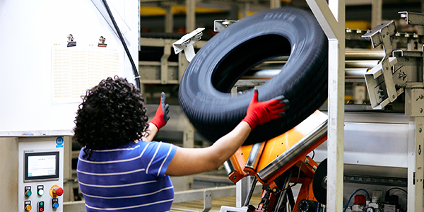 Giti Tire plant tire toss