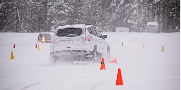 X Ice Snow slalom track