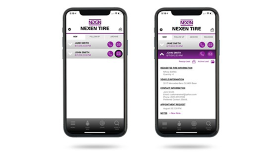 Nexen Tire mobile app