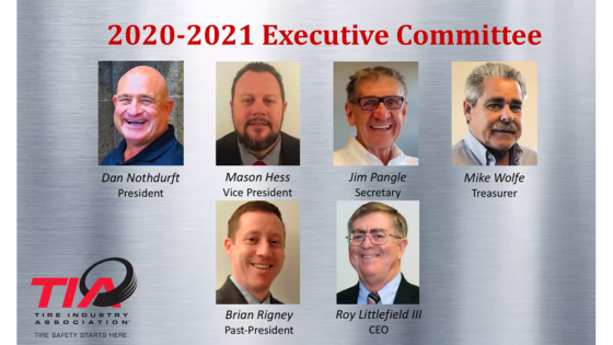 Tire Industry Association executive committee 2020 2021