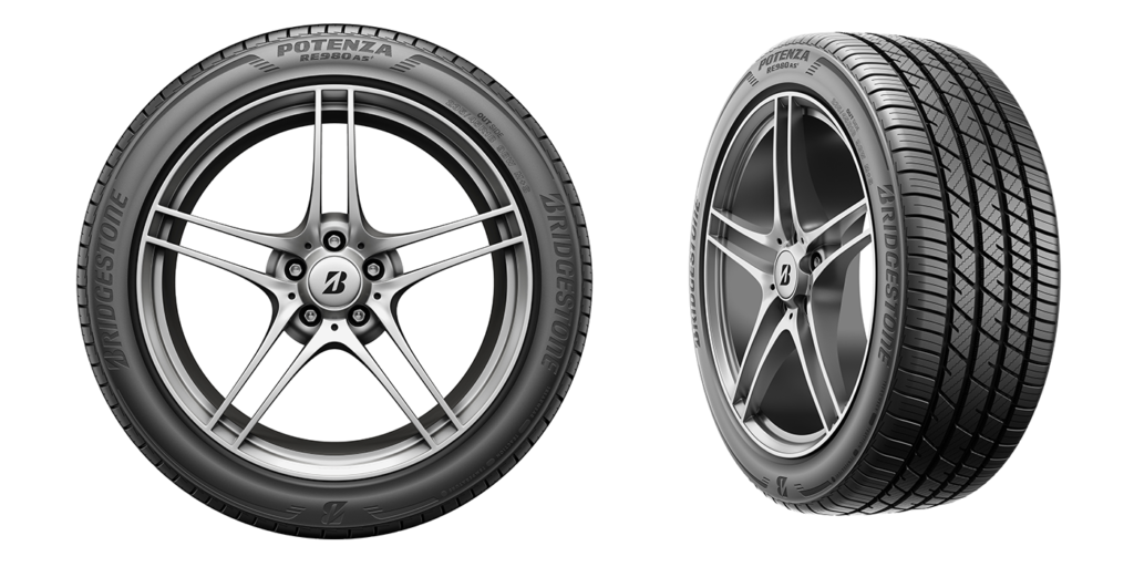 Bridgestone Potenza RE980AS+ 2 angles -web