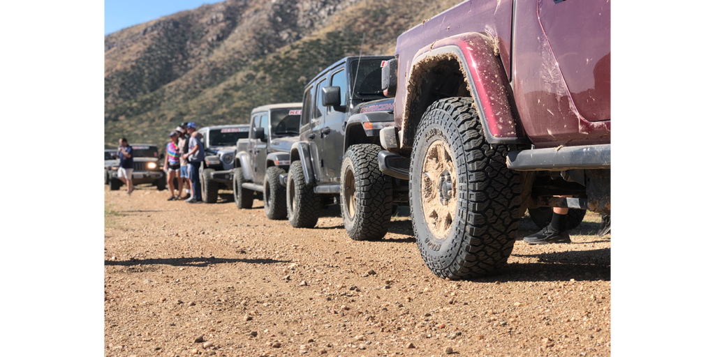 muddy jeeps lined up kenda