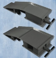 AME International's truck ramps in regular and wide tread widths