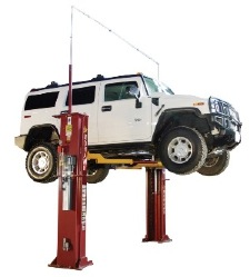 the system i two-post lift from mohawk lifts
