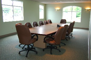 The dealership also has a conference room that is used for training, as well as loaned to local non-profits that need meeting space.