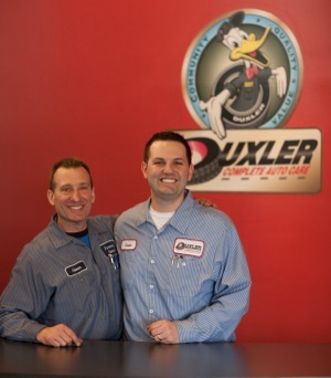 glenn and brianmoak say people thought they were crazy to put in a full-service gas station at duxler, but it worked.