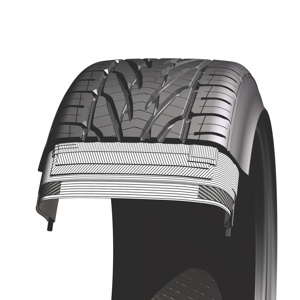 as this cutaway shows, tire designers have many opportunities to tweak tire performance characteristics simply by adjusting casing components.