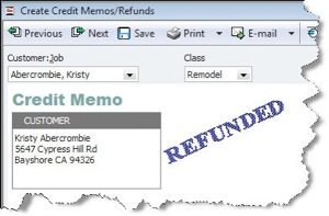 QuickBooks helps you identify refunds quickly.