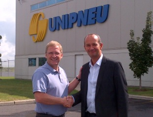Unimax president Bruno Leclair (left) and Fabien Bouquet, Point S international operations director.