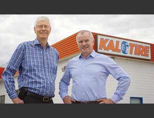 Kal Tire chairman Ken Finch, left, and president Robert Foord.